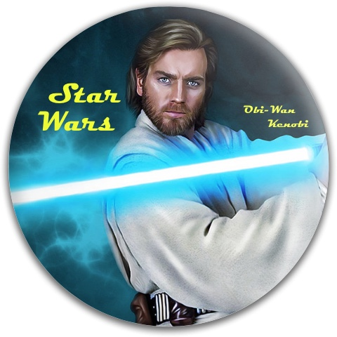 Obi-Wan Kenobi Dynamic Discs Fuzion Felon Driver Disc