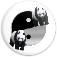 Yin Yang Panda Dynamic Discs Fuzion Trespass Driver Disc