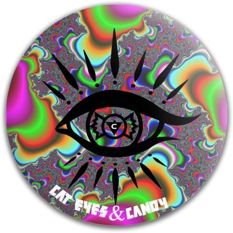 trippy swirls Dynamic Discs Fuzion Warden Putter Disc
