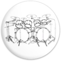 Drum set driver Dynamic Discs Fuzion Enforcer Driver Disc