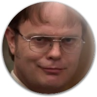 Dwight Schrute Putter Dynamic Discs Fuzion Judge Putter Disc