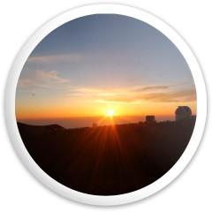Mauna Kea Sunset Latitude 64 Gold Line Bolt Driver Disc