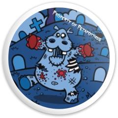 Petapotimus/Zombie Hippo Dynamic Discs Fuzion Sheriff Driver Disc