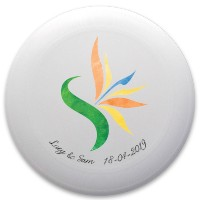 Lucy & Sam wedding frisbee Discraft Ultrastar Ultimate Frisbee