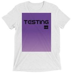 Custom T Shirt (Tri Blend / White Fleck)