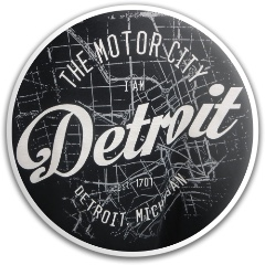 Detroit Motor City Dynamic Discs Fuzion Warden Putter Disc
