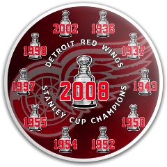 Red Wings Stanley Cup Dynamic Discs Fuzion Convict Driver Disc
