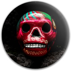 Design #63096 (Skull) Dynamic Discs Fuzion Judge Putter Disc