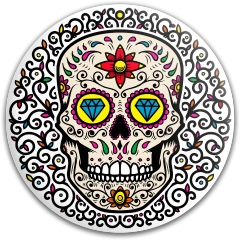 Sugar skull Dynamic Discs Fuzion Judge Putter Disc