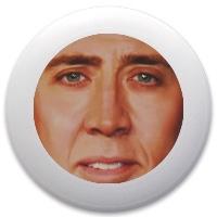 Nicolas Cage Discraft Ultrastar Ultimate Frisbee