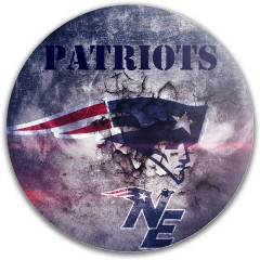 New England Patriots Dynamic Discs Fuzion Justice Midrange Disc