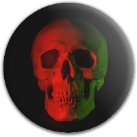 Design #64935 (Skull) Dynamic Discs Fuzion Truth Midrange Disc