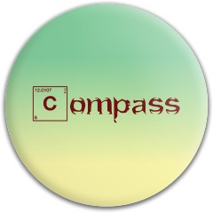 Compass Periodic table Latitude 64 Gold Line Compass Midrange Disc