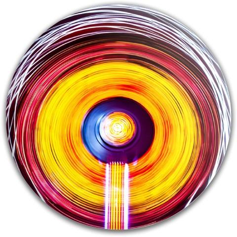 Spiral disc Latitude 64 Gold Line Compass Midrange Disc