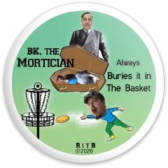 BK Mortician Dynamic Discs Fuzion Enforcer Driver Disc
