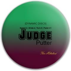 Tropical Judge Dynamic Discs Fuzion Judge Putter Disc