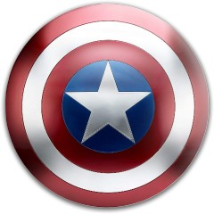 free to reuse captain america Dynamic Discs Fuzion Sheriff Driver Disc