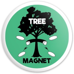 Tree Magnet Latitude 64 Gold Line River Driver