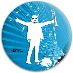 White jazztrooper Latitude 64 Gold Line Compass Midrange Disc