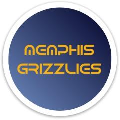 Memphis Grizzlies Dynamic Discs Fuzion Sheriff Driver Disc