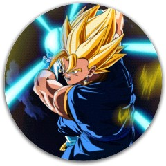 Vegeto Fan Art Dynamic Discs Fuzion Justice Midrange Disc