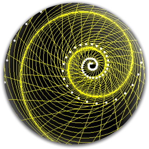 Equiangular Spiral Evolute MVP Neutron Medium Ion Putter Disc