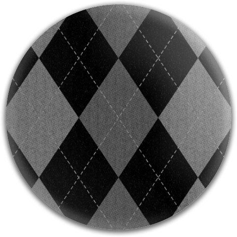 Gray Argyle Pattern Dynamic Discs Fuzion Judge Putter Disc