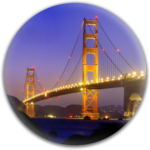 Golden Gate at Night Dynamic Discs Fuzion Judge Putter Disc
