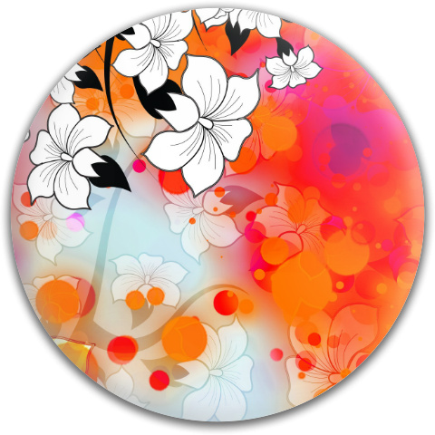 Tropical Flower Motif Dynamic Discs Fuzion Verdict Midrange Disc