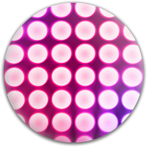 Pink Concert Lights Dynamic Discs Fuzion Judge Putter Disc