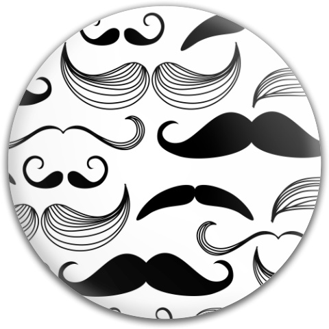 Black and White Mustaches Dynamic Discs Fuzion Judge Putter Disc