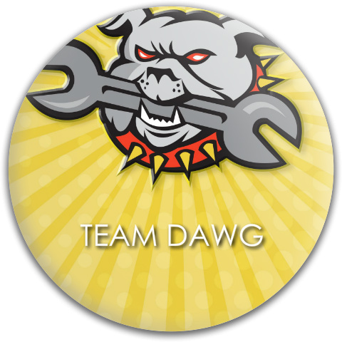 Team Dawg Dynamic Discs Fuzion Judge Putter Disc