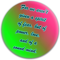 2 Timothy 1:7 Neon Dynamic Discs Fuzion Warden Putter Disc