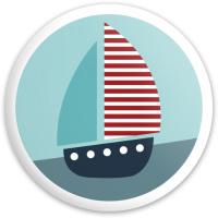 Sail Boat Dynamic Discs Fuzion Defender Driver Disc