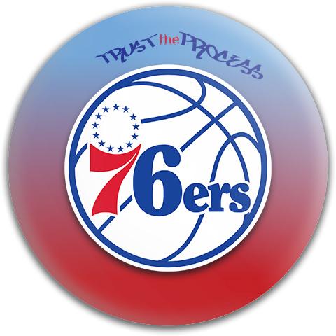 76ers Trust the Process Dynamic Discs Fuzion Warden Putter Disc