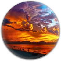 Sunset Paradice Dynamic Discs Fuzion Warden Putter Disc