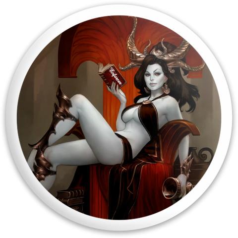 demon girl Dynamic Discs Fuzion Enforcer Driver Disc