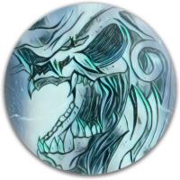 green skull Dynamic Discs Fuzion Judge Putter Disc