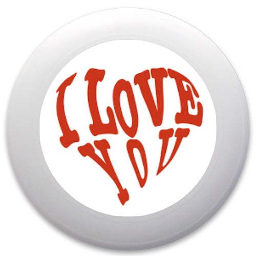 Design #62835 (Love) Discraft Ultrastar Ultimate Frisbee