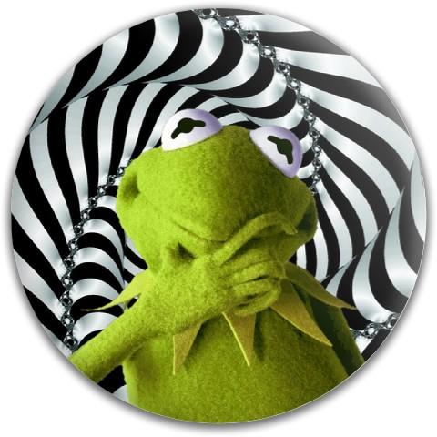 Trippy Kermit Dynamic Discs Fuzion Felon Driver Disc