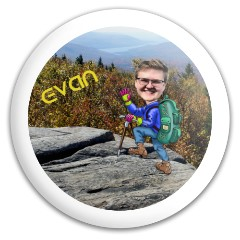Evan Hiking Caricature Discraft Buzzz Midrange Disc