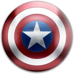 Captain America - Shield Westside Discs TP Shield Putter Disc