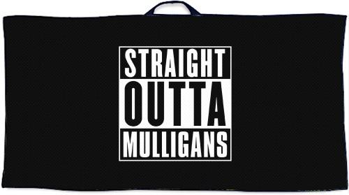 Straight Outta Mulligans Disc Golf  Custom Disc Golf Towel
