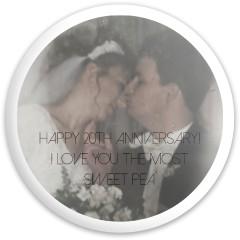 Wedding anniversary Fly Discs Disc