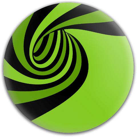 Green Spiral Dynamic Discs Fuzion Judge Putter Disc