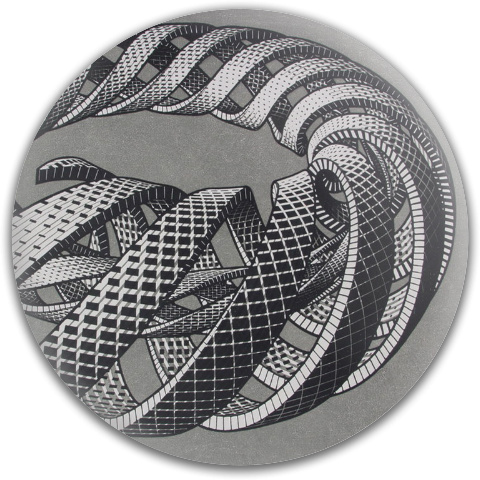 Cycle Spirals and Snakes by Escher Latitude 64 Gold Line Scythe Driver Disc