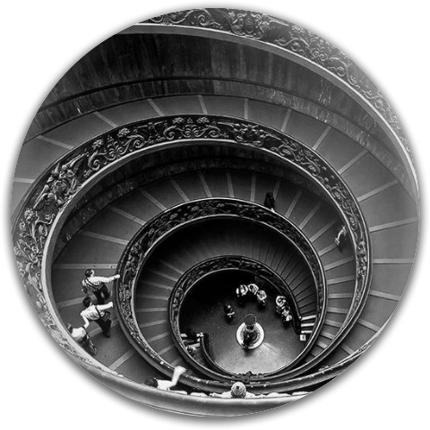 Spiral Staircase at the Vatican Latitude 64 Gold Line Scythe Driver Disc