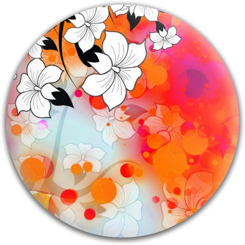 Tropical Flower Motif Dynamic Discs Fuzion Judge Putter Disc