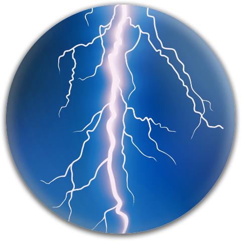Lightning Bolt Dynamic Discs Fuzion Judge Putter Disc