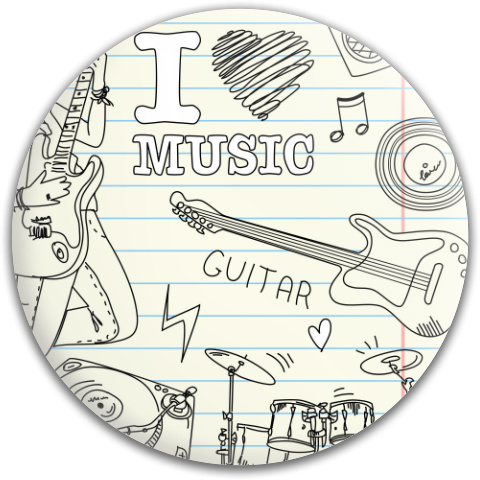 I Heart Music Dynamic Discs Fuzion Judge Putter Disc